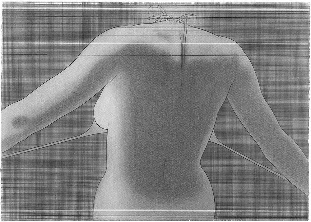 En el blanco 9, 2007. Graphite / paper. 50 x 70 cm