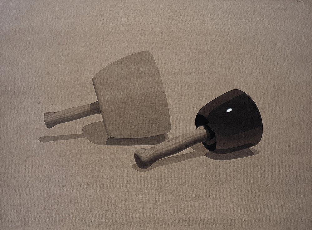 Pigmalión 2 1999-2000.Watercolor / paper, 56 x76 cm