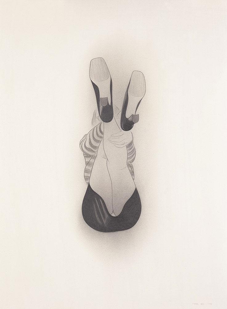 Braguita 1998.Graphite / paper, 75 x 56 cm