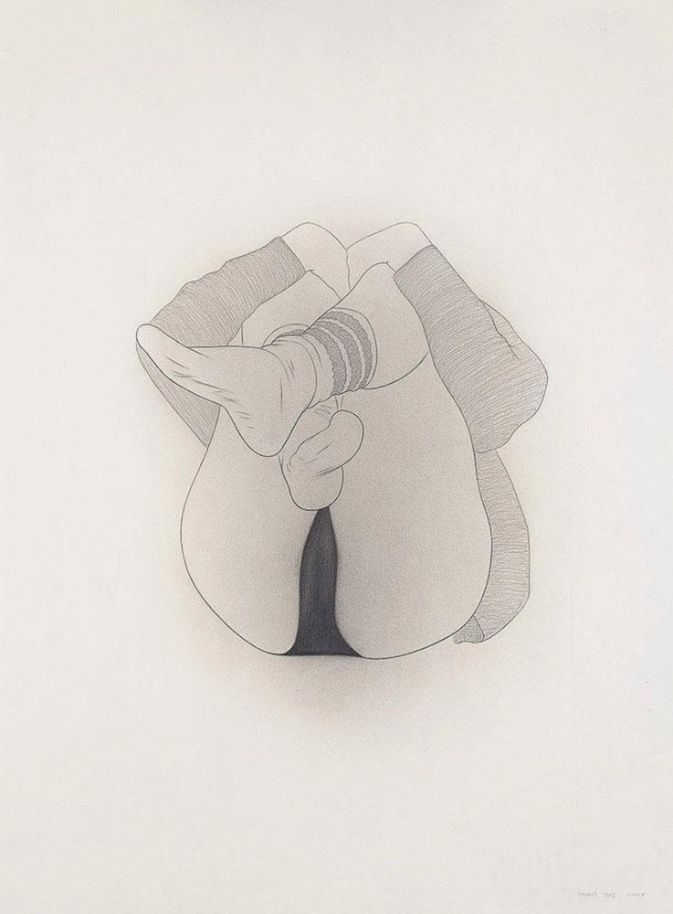 Rebequita 1998.Graphite / paper, 75 x 56 cm