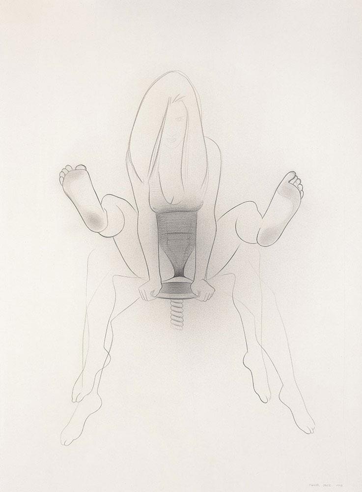 Ninfa 1998.Graphite / paper, 75 x 56 cm