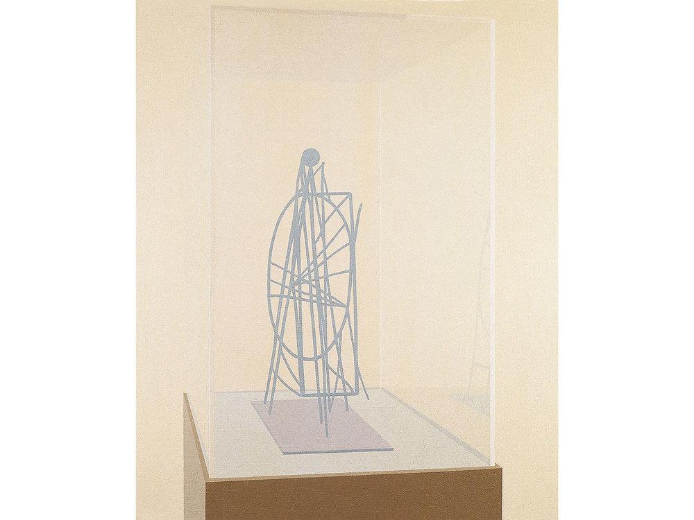 Vitrina 1994. Acrylic / canvas, 61 x 50 cm