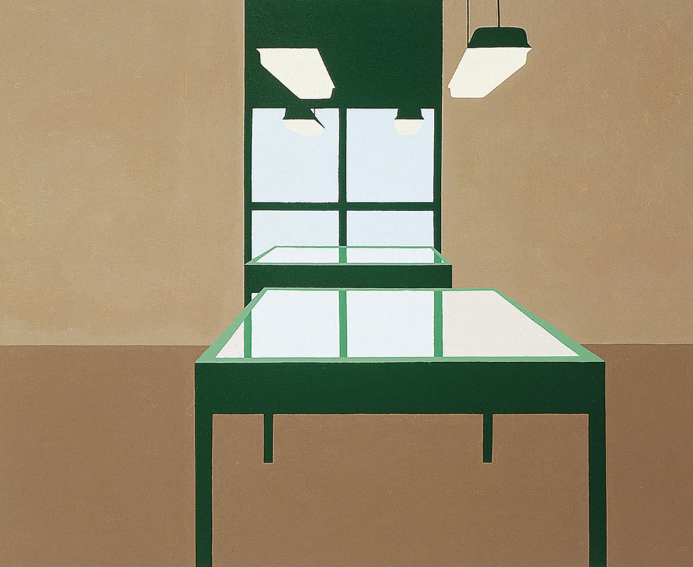 Interior, 1993. Acrylic / canvas. 50 x 61 cm