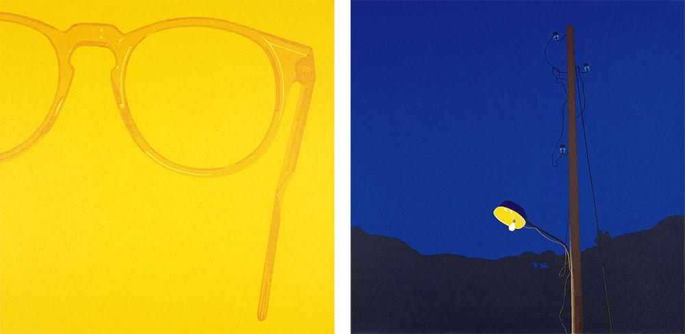 Perfecto 1 1993. Acrylic / canvas, díptico. 55 x 55 cm cada unidad, configuración variable