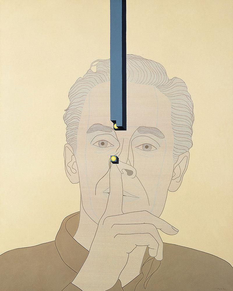 Biografía no autorizada 4 1991. Acrylic / canvas, 100 x 81 cm