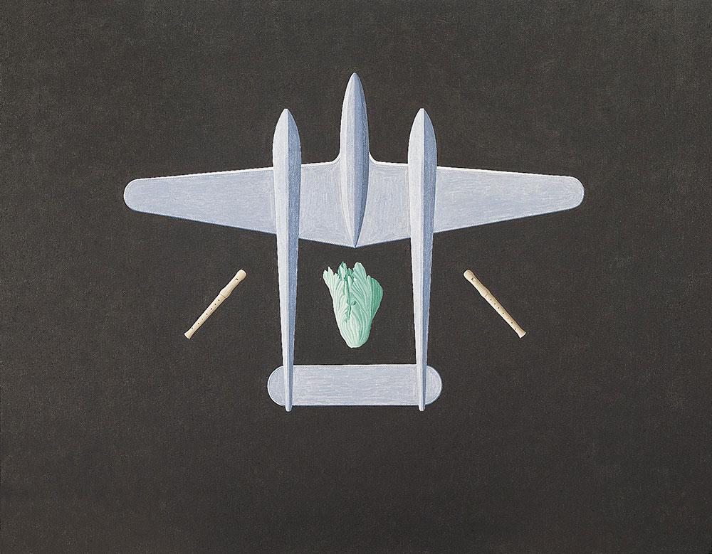 Vegetal y Mineral, 1987. Oil / canvas. 114 x 150 cm
