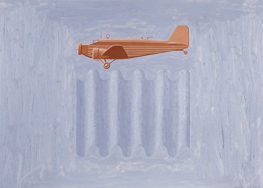Junkers 1987. Oil / canvas, 50 x 70 cm