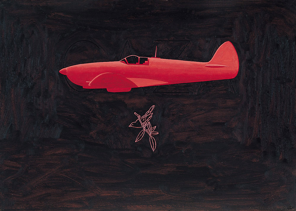 Spitfire 1987. Oil / canvas, 50 x 70 cm