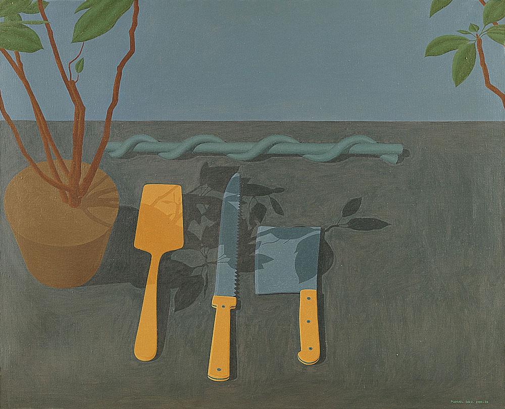 Bodegón paisaje, 1985-86. Oil / canvas. 81 x 100 cm