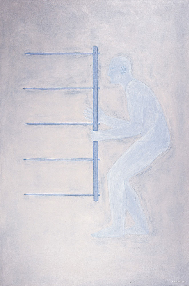 Autorretrato 1984. Oil / canvas,  195 x 130 cm
