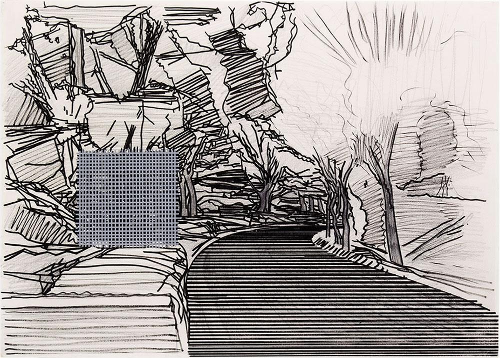 Tomoe 6 , 1999-2015 Graphite and tempera / paper, 50 x 70 cm