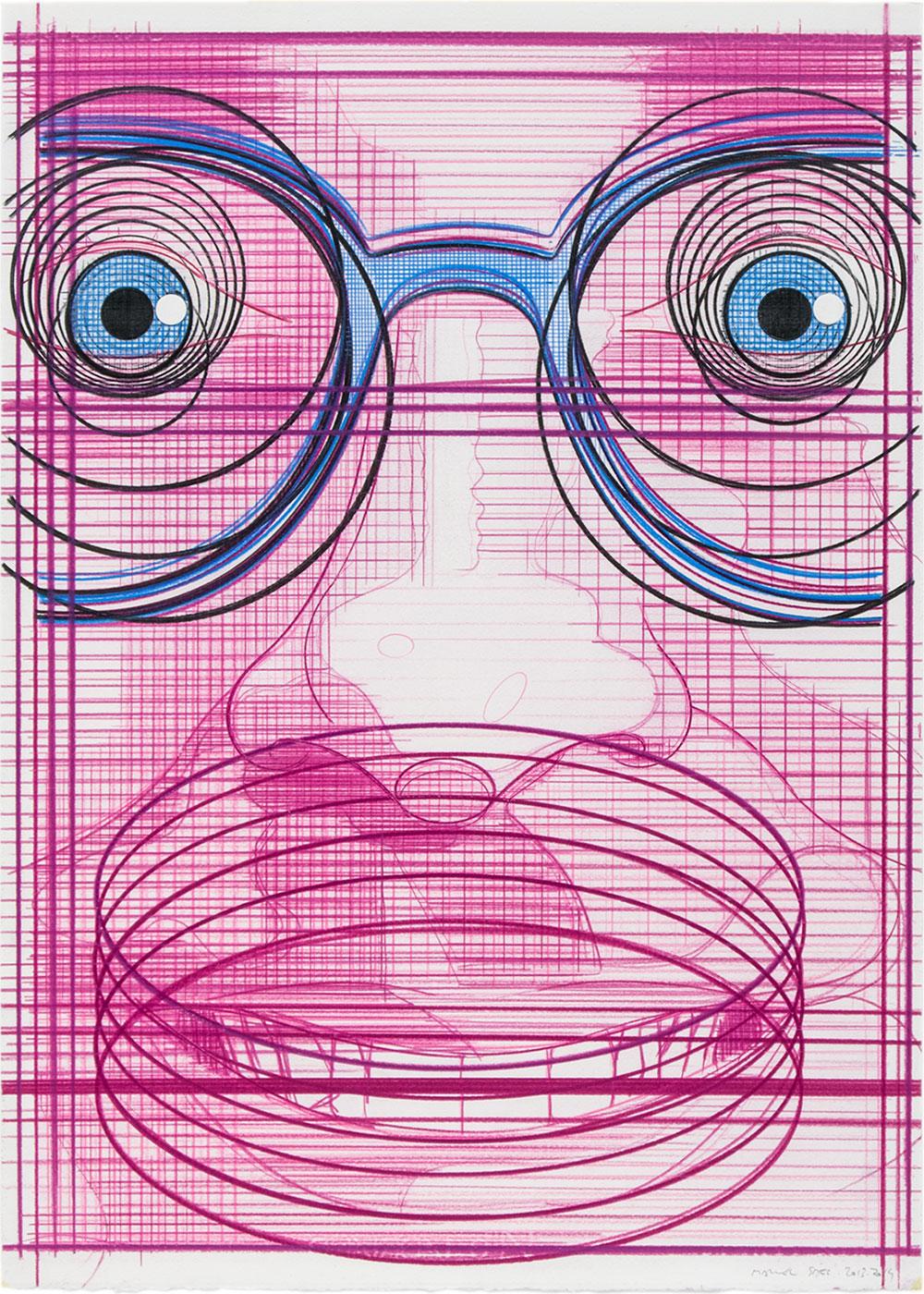 El turista del espacio 15 ,2013-2014 Lápiz de color / papel, 70 x 50 cm