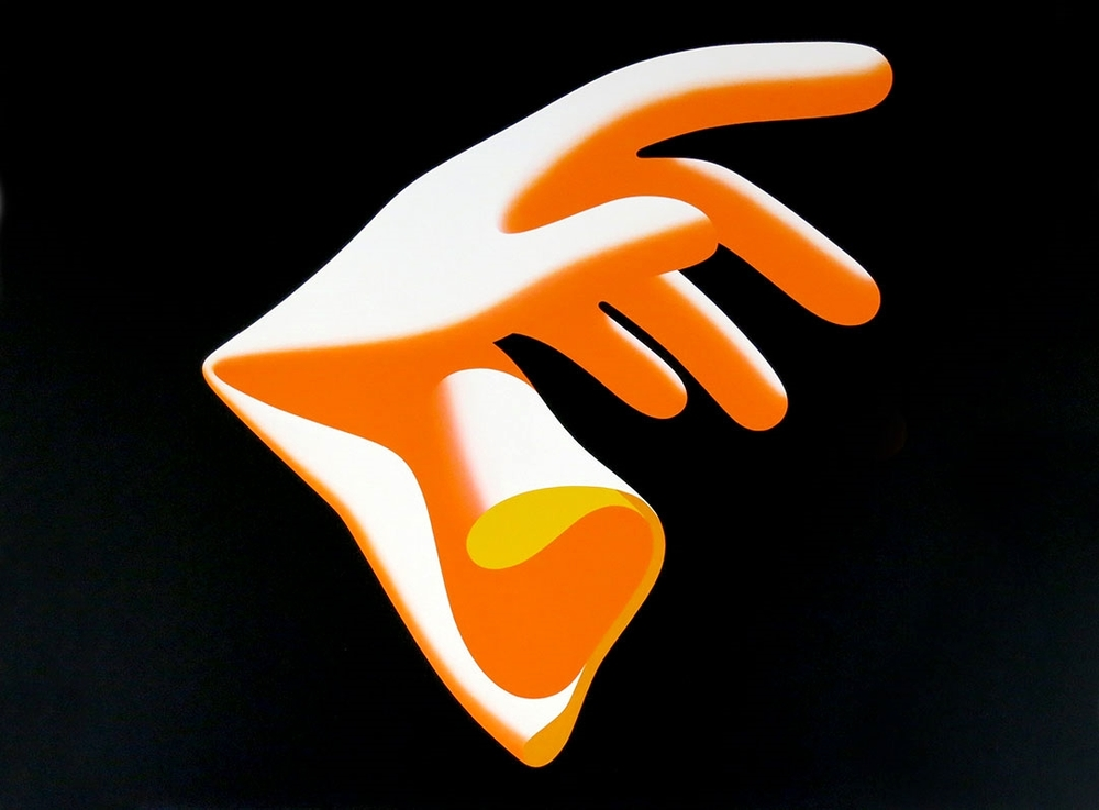 Guante 2001 - 2003.Acrilyc / canvas, 97 x 130 cm