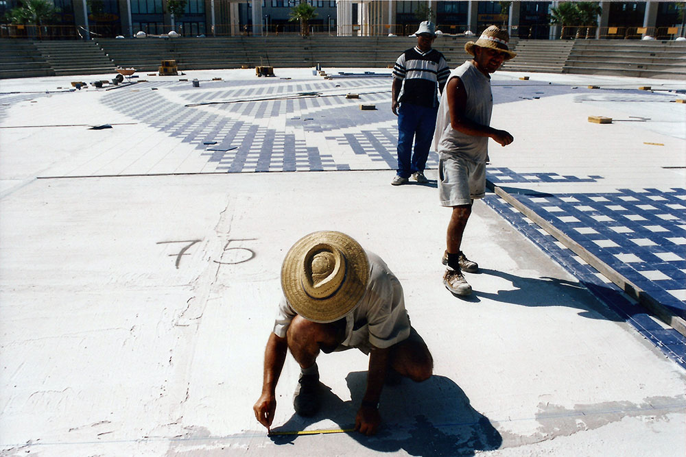 Agora under construction. August 2003