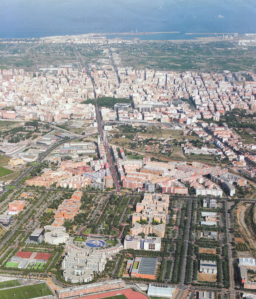 Aerial view of the finished Ágora