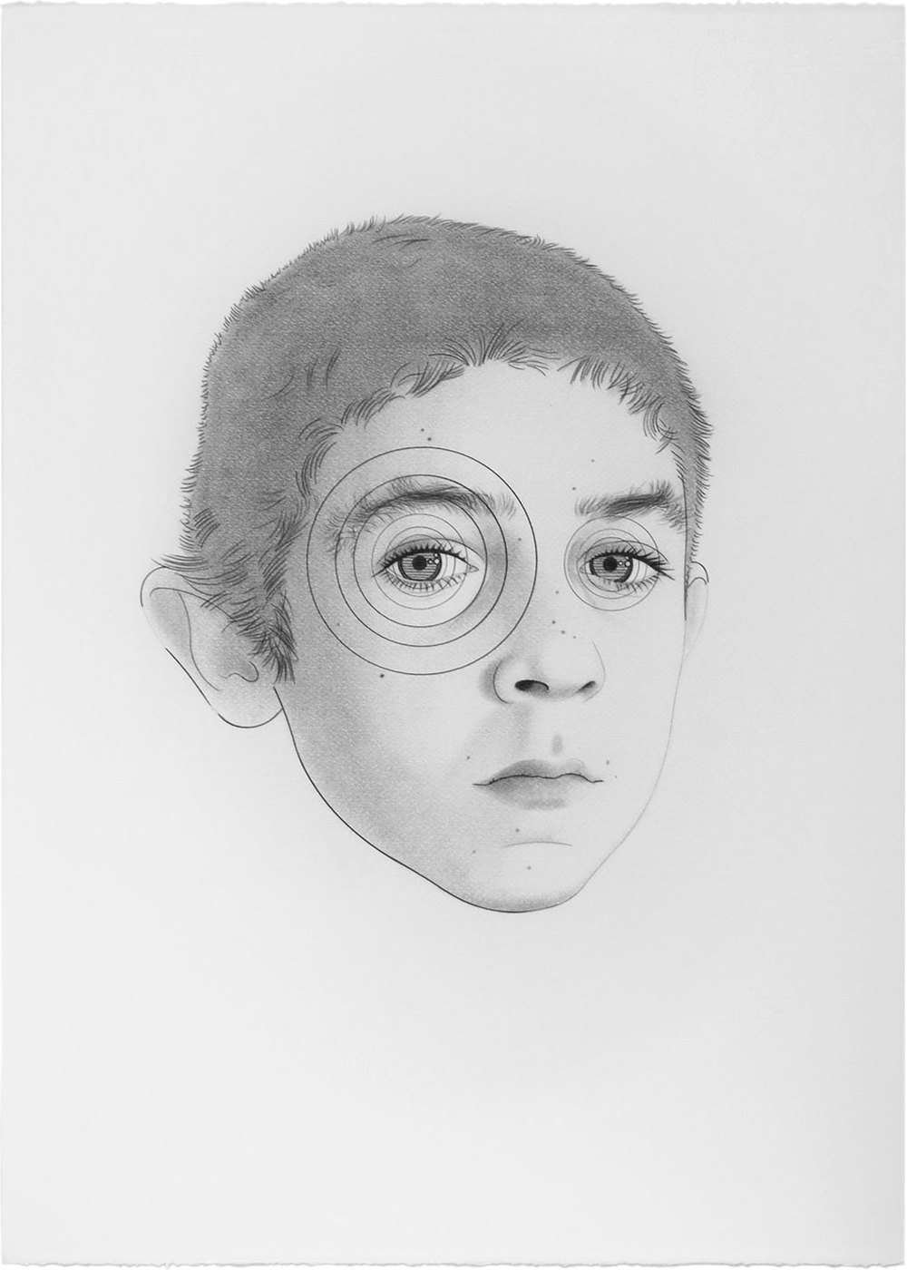 Jodie Foster as Jacobo, 2012 Graphite / paper, 70 x 50 cm