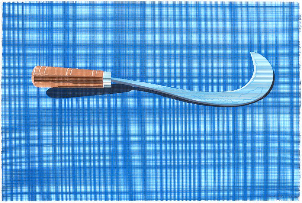 Bronsky , 2016-2017. Lápiz y témpera sobre papel, 38 x 56cm.