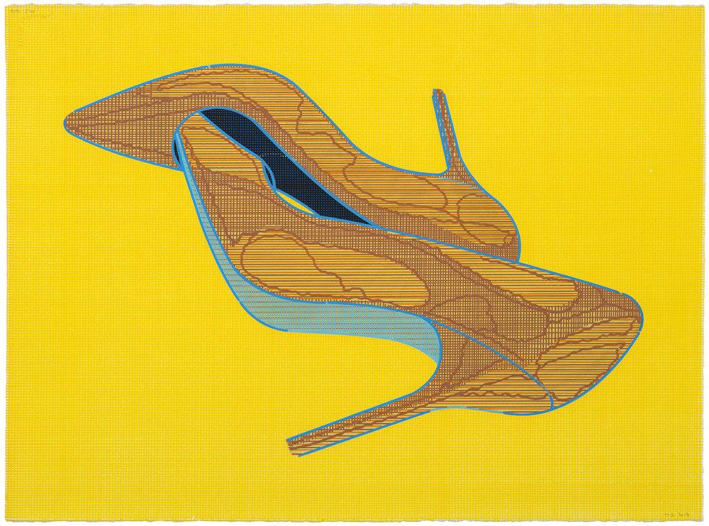 Pentagrama (3), 2011-2017. Acuarela y témpera sobre papel. 56 x 76 cm