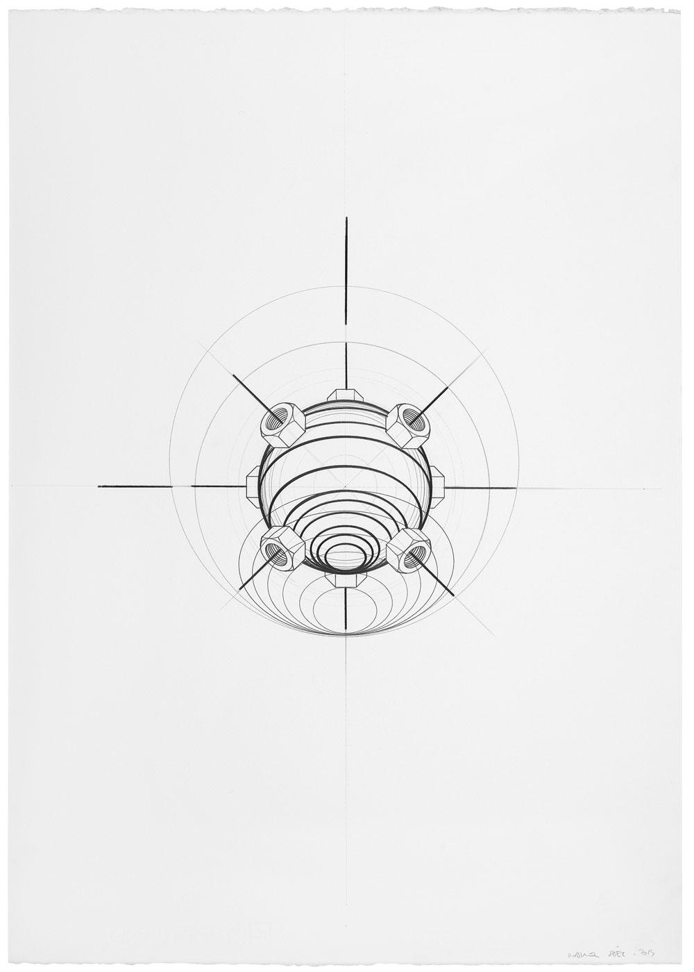 Orsini ha vuelto (6), 2014. Grafito / papel. 70 x 50 cm