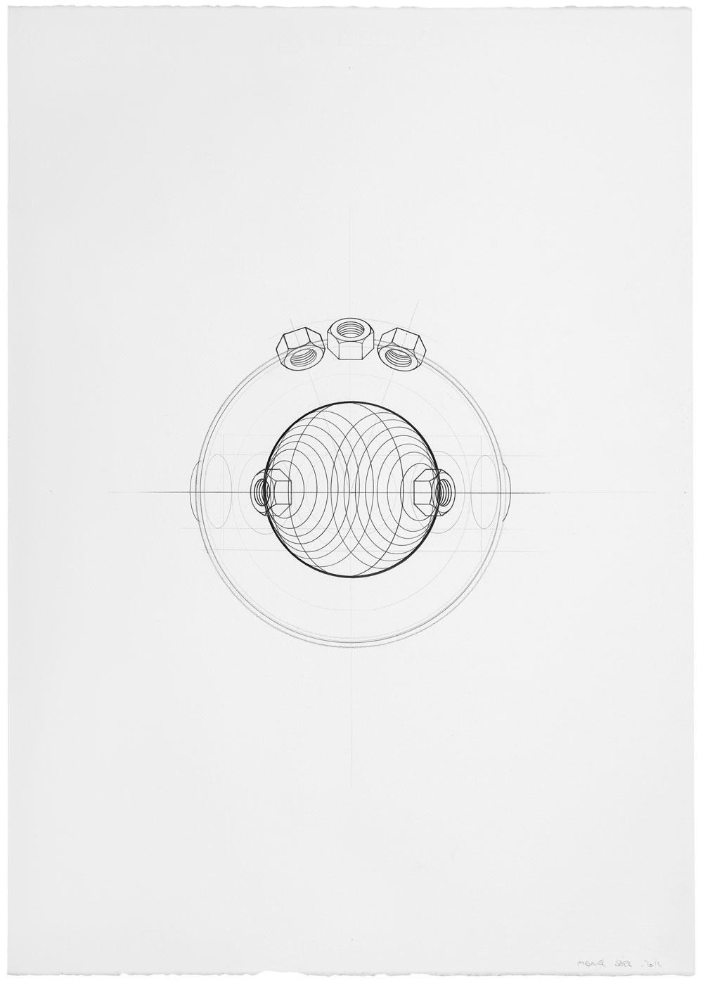 Orsini ha vuelto (4), 2014. Grafito / papel, 70 x 50 cm