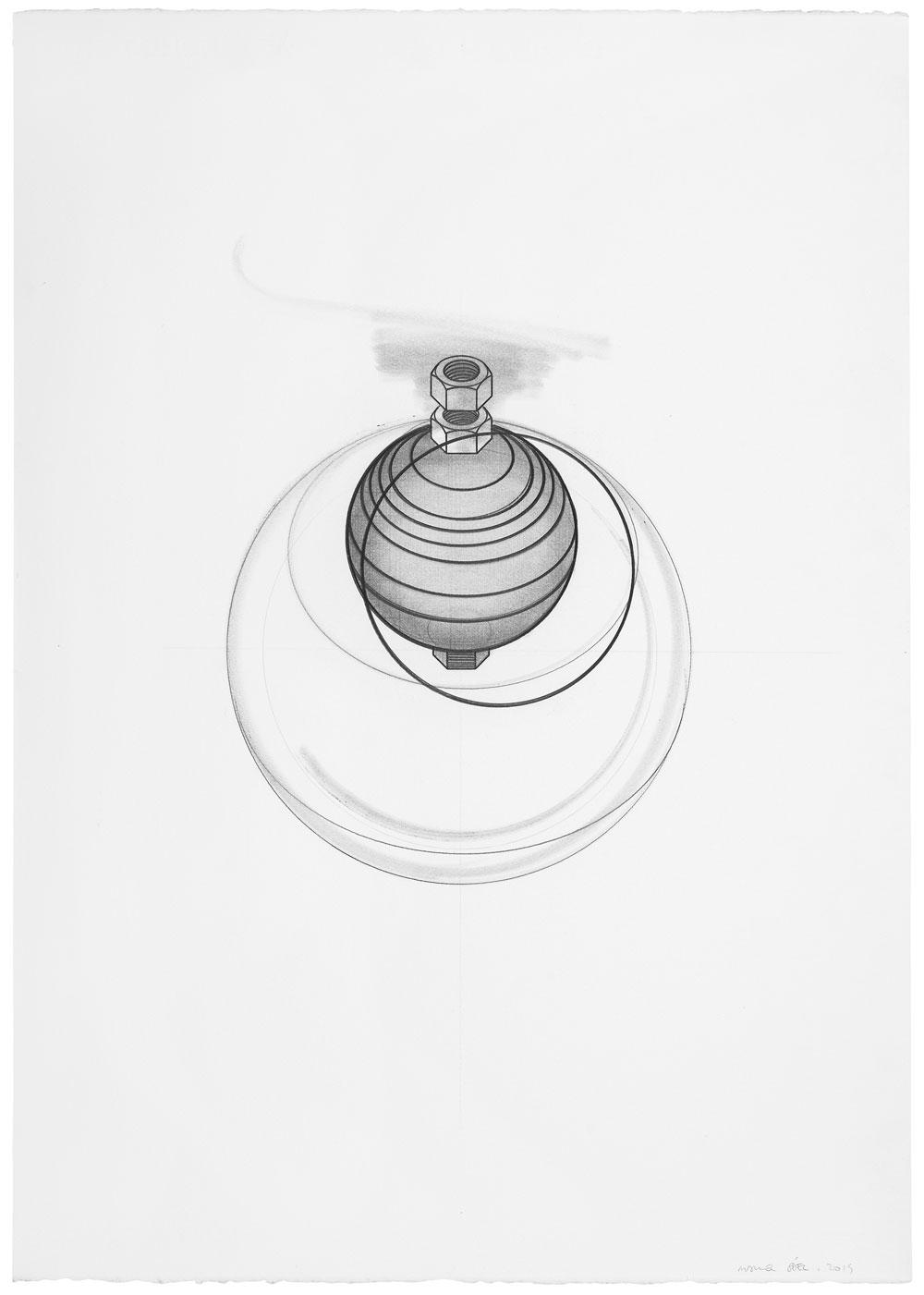 Orsini ha vuelto (3), 2014. Grafito / papel. 70 x 50 cm