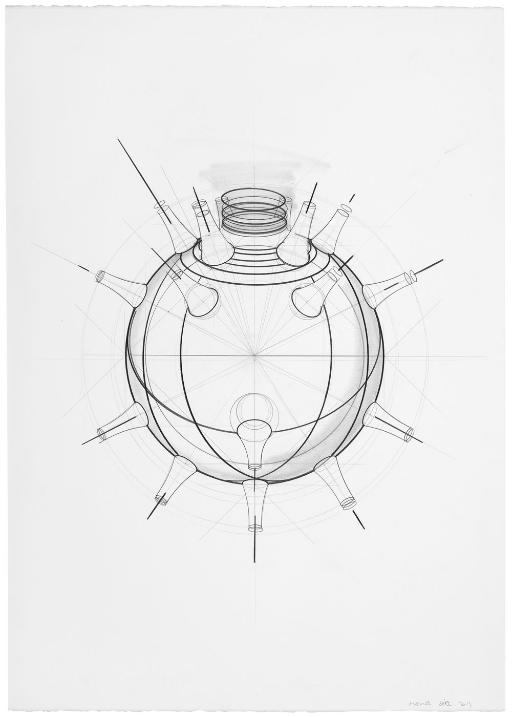 Orsini ha vuelto (1), 2014. Grafito / papel, 70 x 50 cm