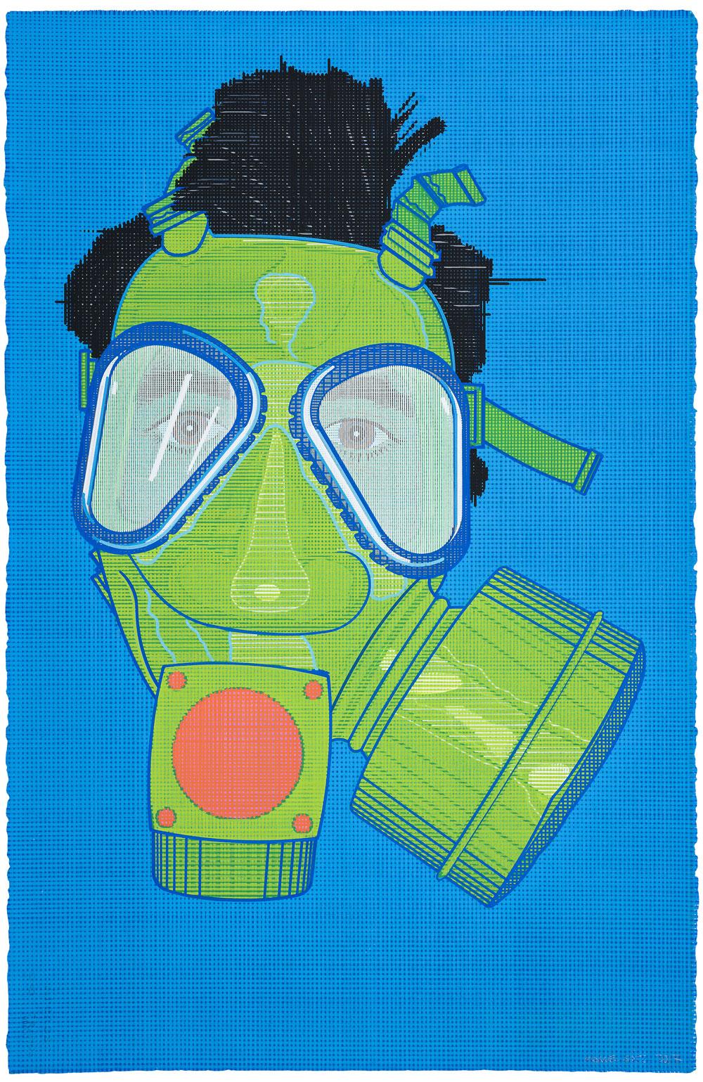 La noche de las cien cabezas , 2017. Acuarela y témpera sobre papel, 102 x 66 cm.