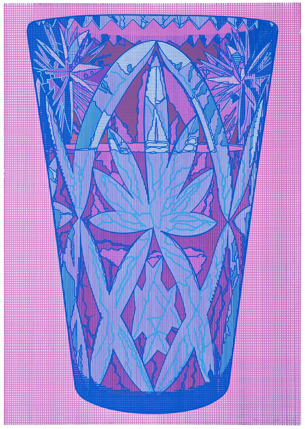 LZ (1) , 2017. Acuarela y témpera sobre papel, 83 x 59 cm.