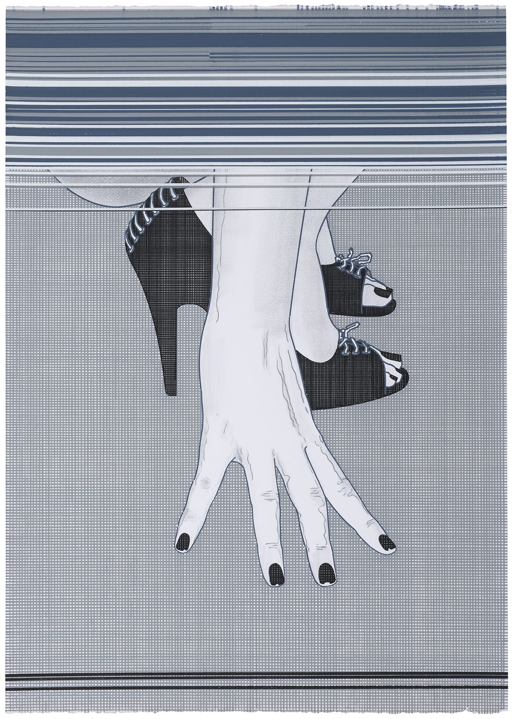 Rear Window (1) , 2016-2017. Acuarela y témpera sobre papel, 71 x 50 cm.