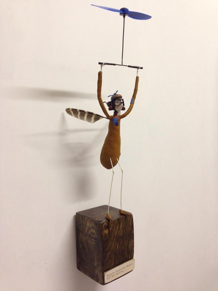 fairys in flight at the affordable art fair
