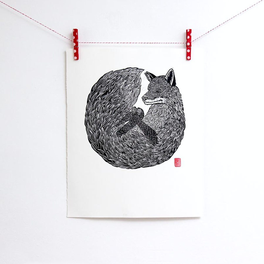 Fox Print by Jeremy Wills for INKONK