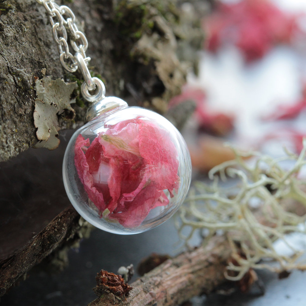 Mini Necklaces - Small Glass Sphere