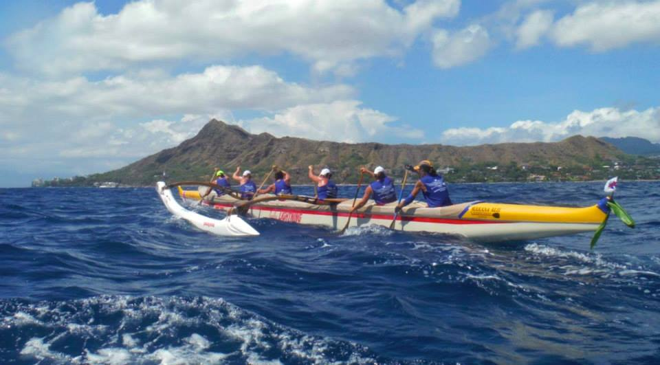 WCC Womens Team competing in the 2014 Na Wahine O Ke Kai race in Hawaii
