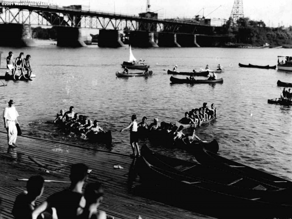 WCC hosts a fun hand paddling race, C.1920