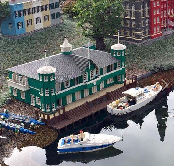 See the WCC boathouse at Legoland in California, where it is included as part of the D.C. section of Miniland USA.