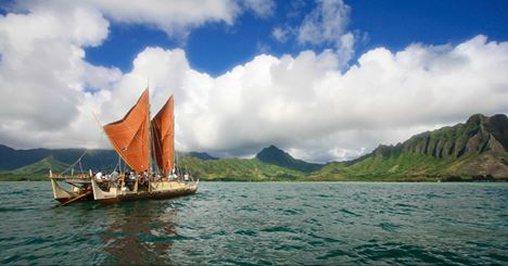 Read about the Hokule'a Worldwide Voyage in the NY Times. Credit: Na'alehu Anthony/Polynesian Voyaging Society and 'Oiwi TV