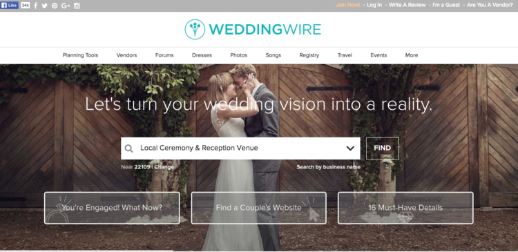 Best wedding websites for wedding planning advice dellwood weddingwirewedding website junglespirit Image collections