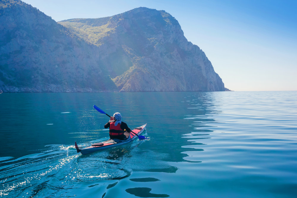 Paddling to relax