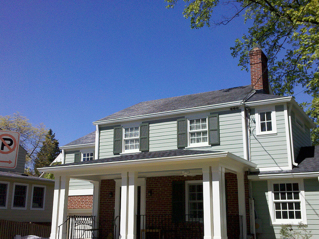 6 inch gutters replaced on Bethesda, Maryland home