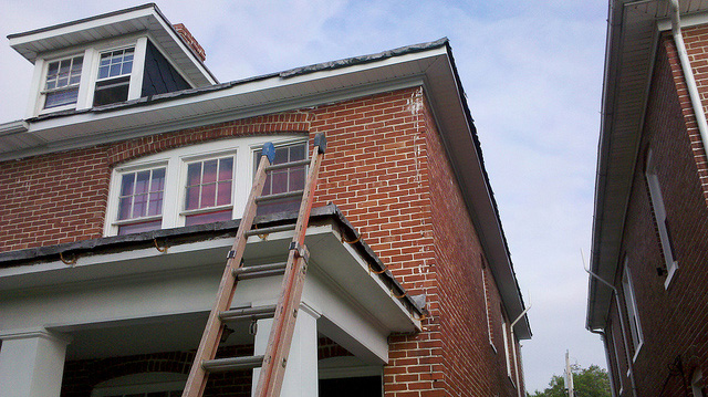 New rain gutters installed in Frederick, Maryland