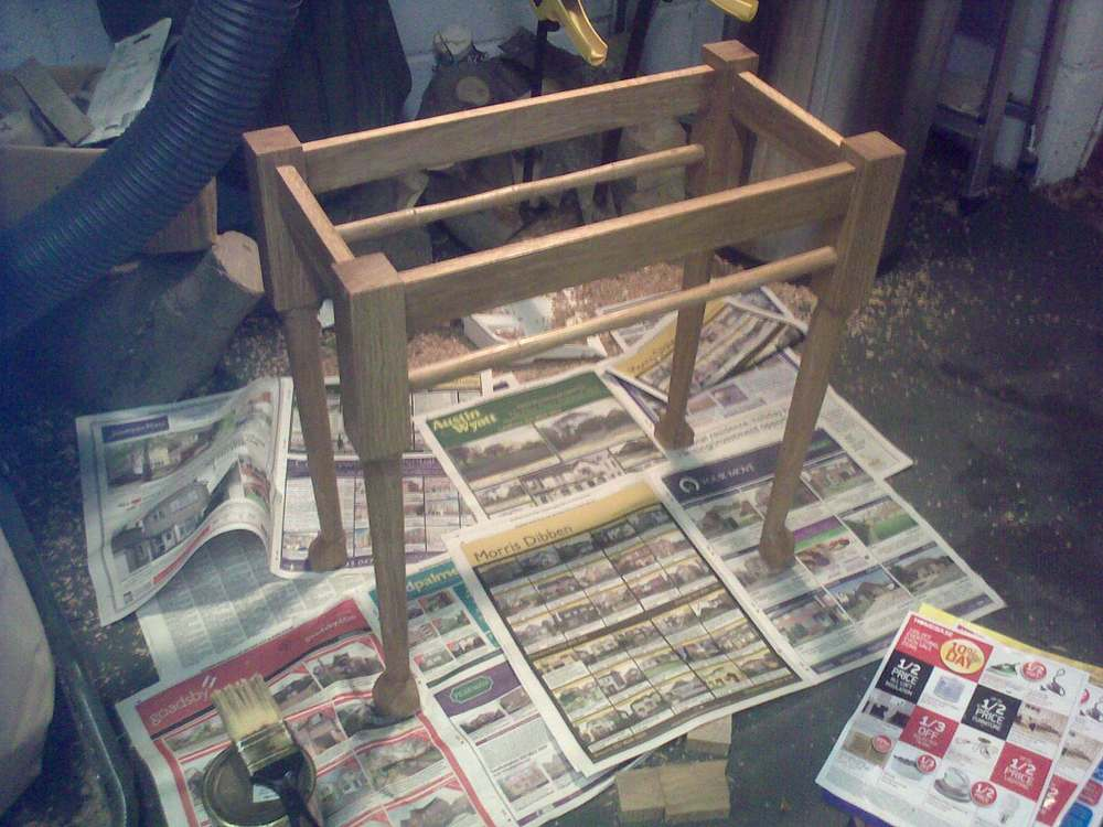 lower structure assembled and varnished