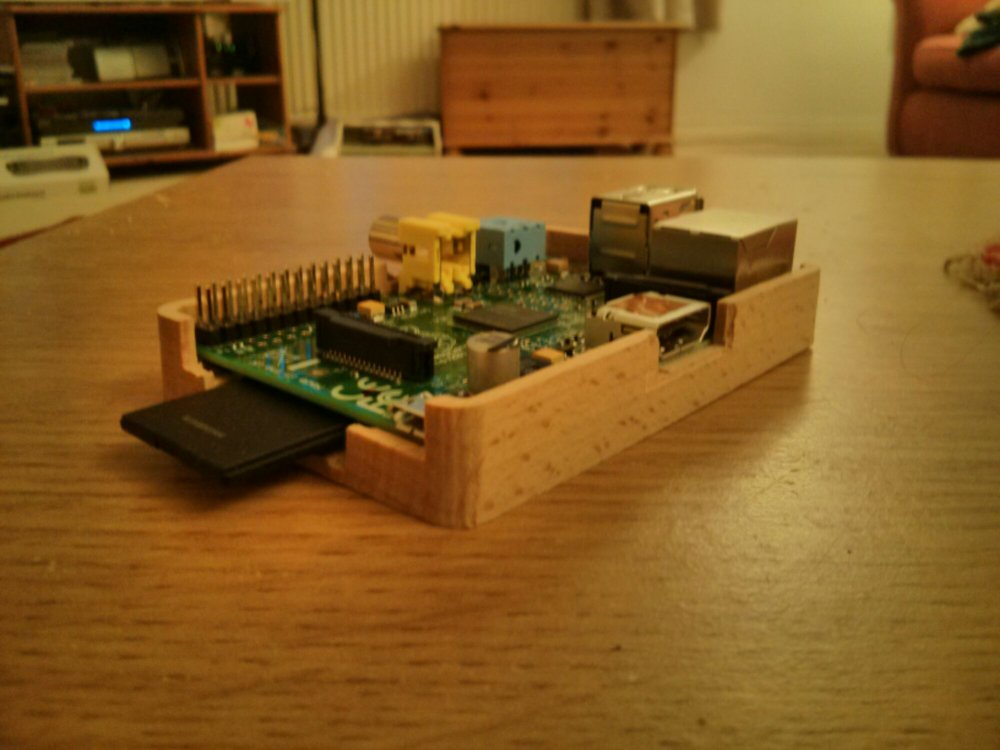 Raspberry pi with cherry case milled on cnc