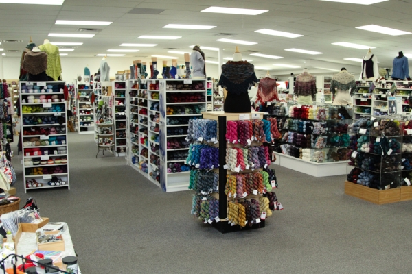 The front half of the retail store.
