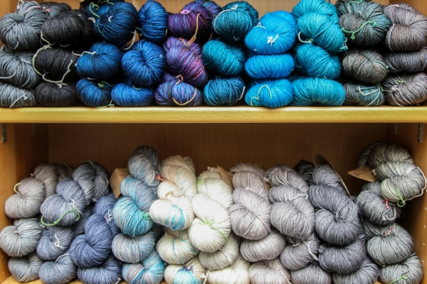 Tempting shelves of Madelinetosh!