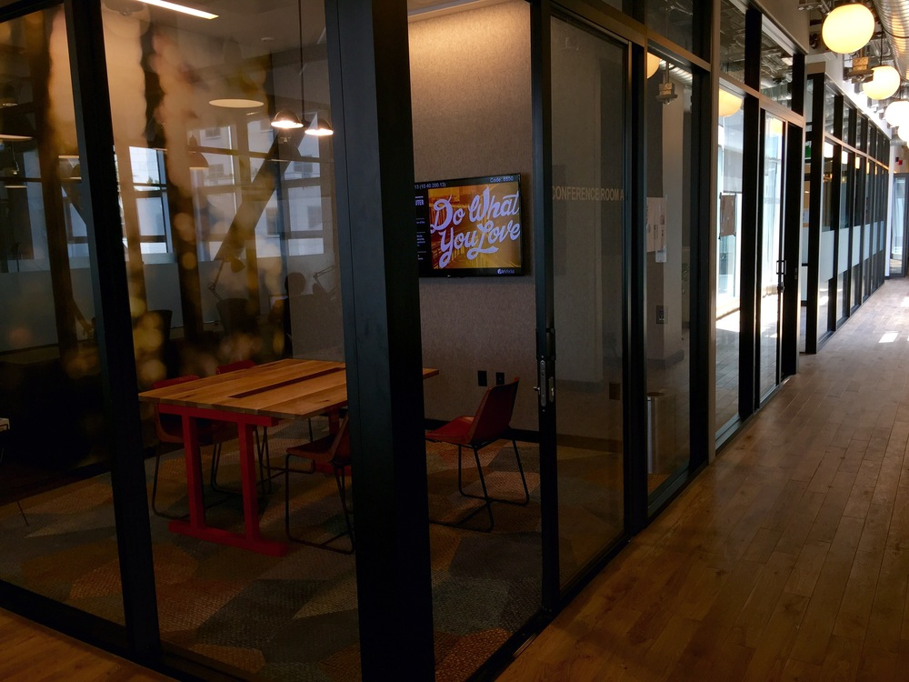 Inside the new BFG offices at WeWork Promenade in downtown Santa Monica.