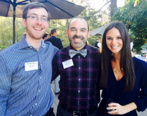 Brendan, Brett, and Leah attending Leah's mentor appreciation mixer (April 2015).
