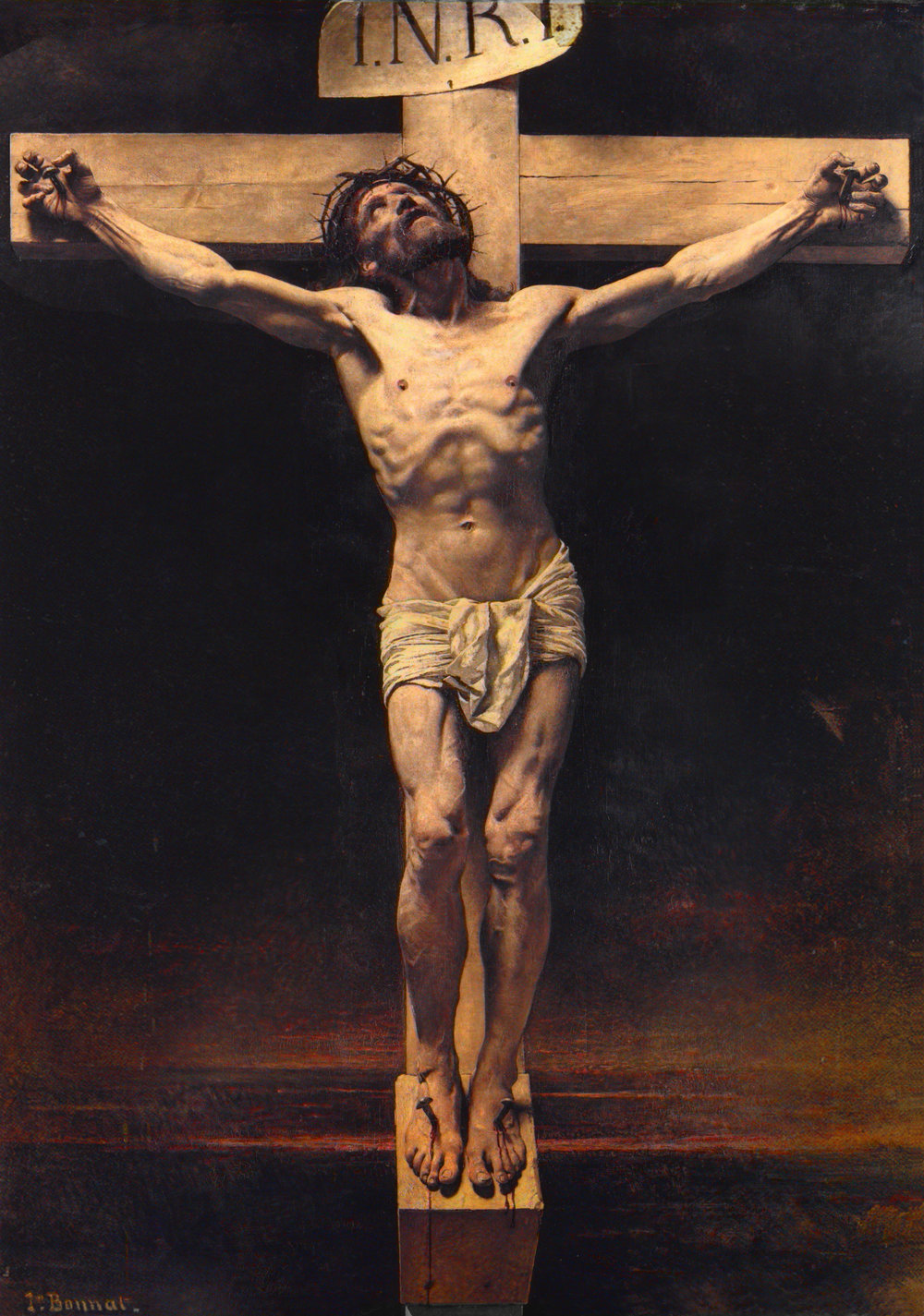 Christ on the Cross, Leon Bonnat, oil on canvas, 1874