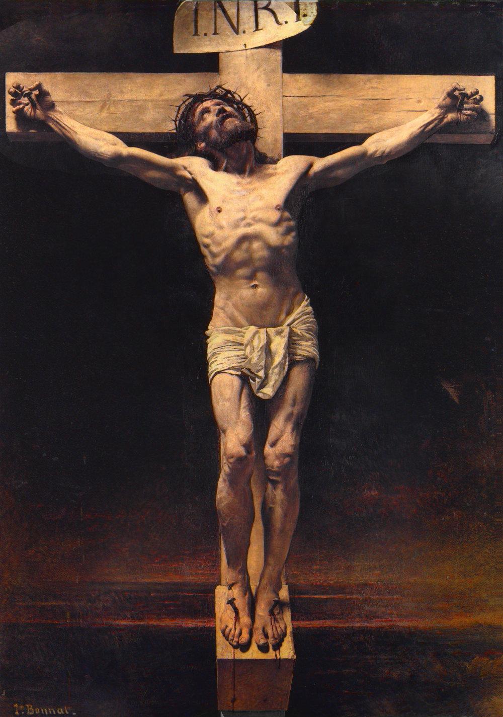 Christ on the Cross, Leon Bonnat, oil on canvas, 1874