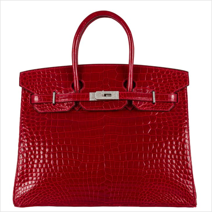Birken Handbag, Hermes, Alligator, diamonds and white gold, 2008