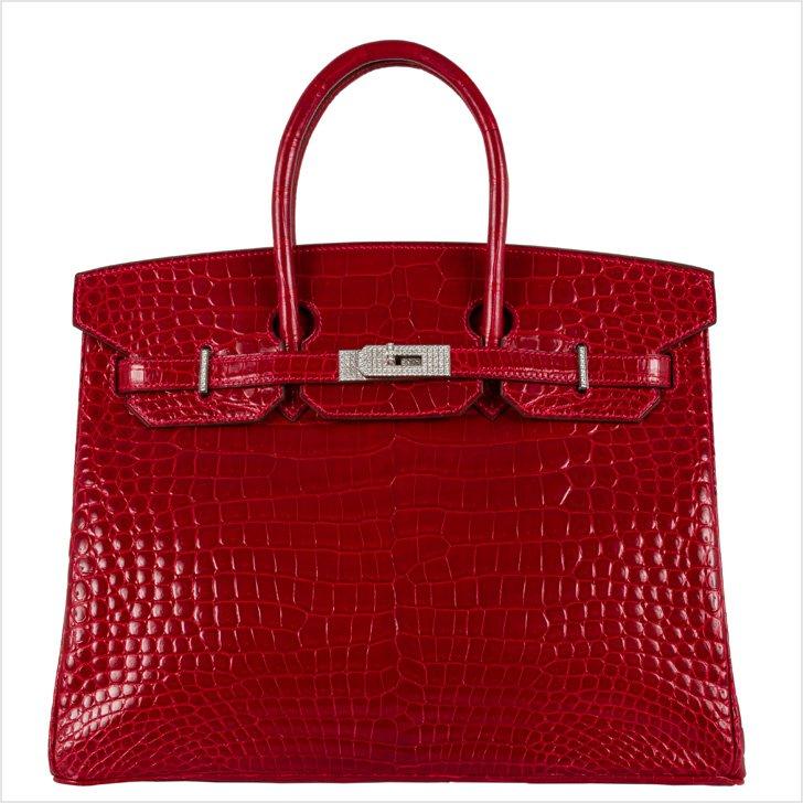 Birken Handbag, Hermes, Alligator, diamonds and white gold, 2008